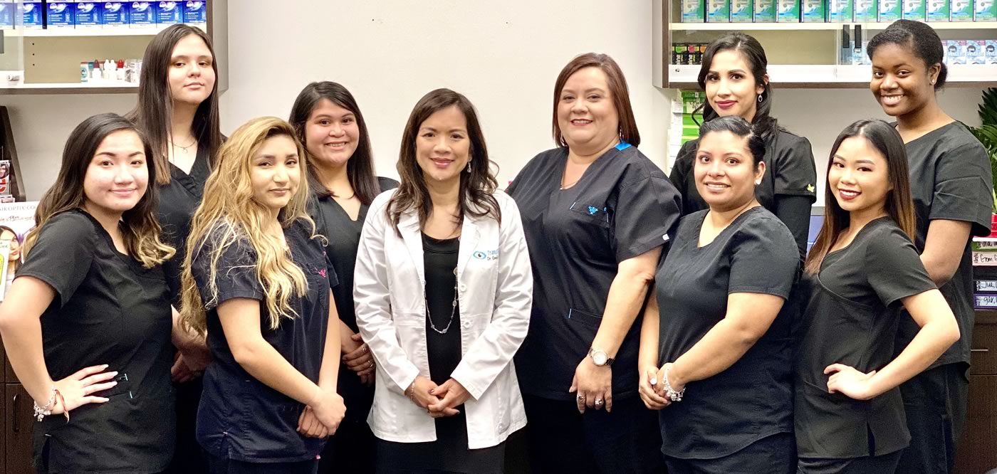 Staff of TransVision Eye Doctors in Victoria Texas